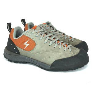 Evolv Mens Gray Leather Climbing Shoes Size 8.5